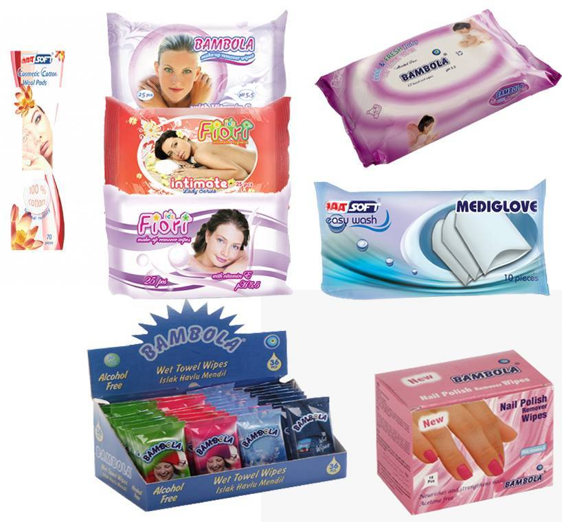 Wet Wipes (towels, tissues)