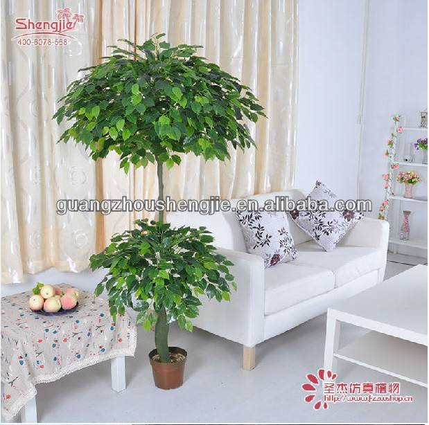ever green decoration artificial ficus tree