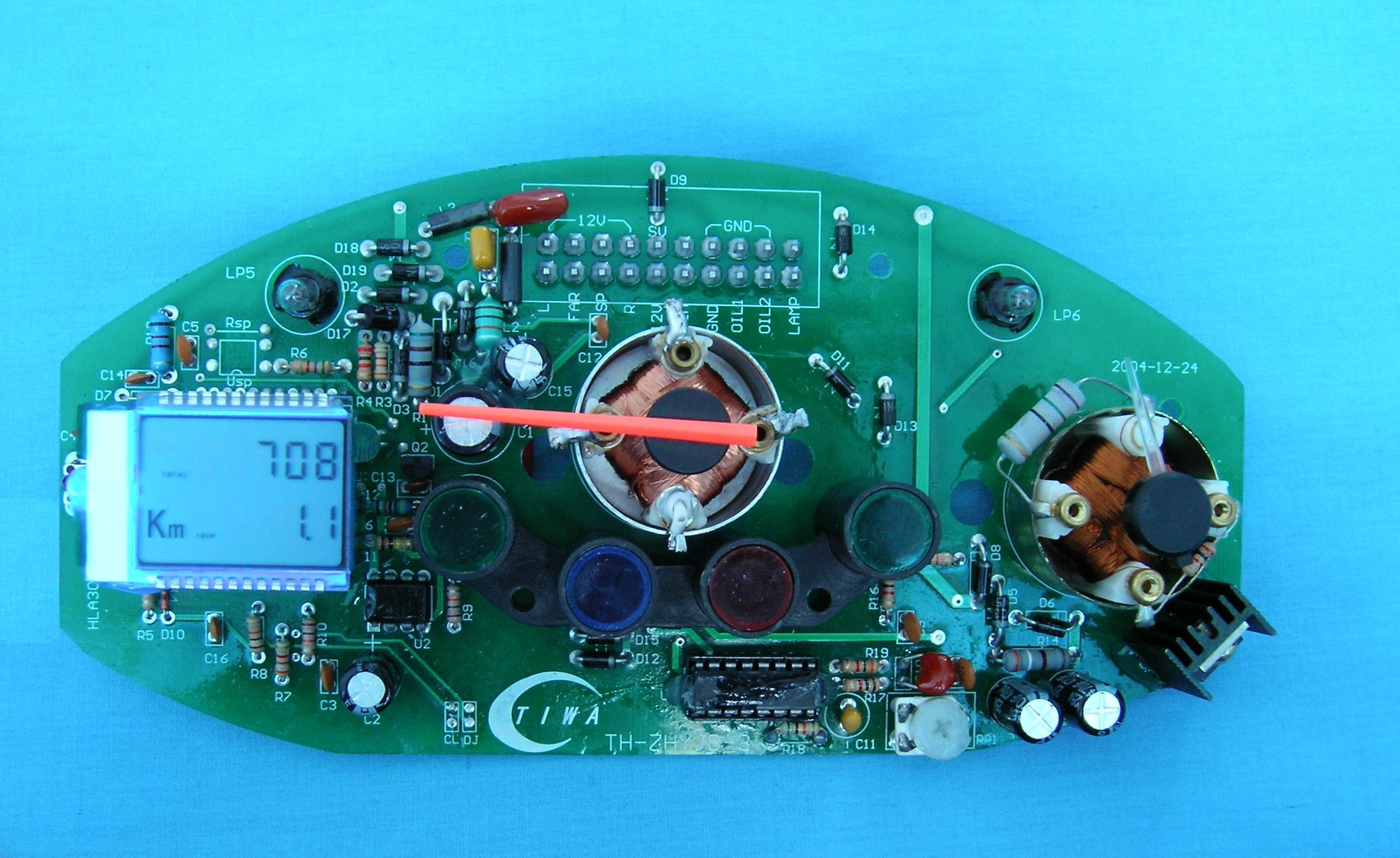 The core of LCD digital Mileage meter