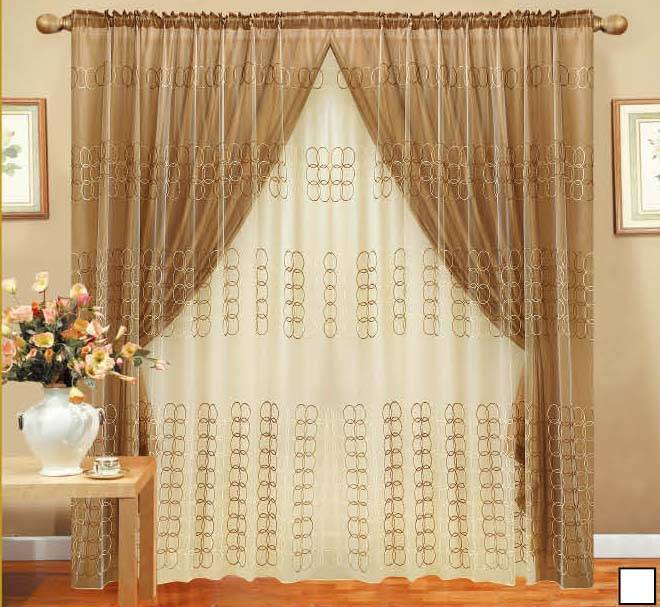 Embroidery curtain, household textile product, upholstery curtain