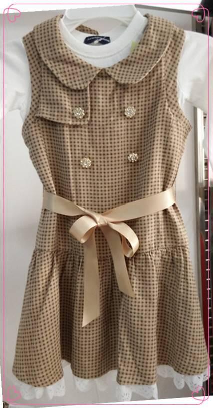 Children girl fashion flower print dress