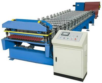 Sinusoidal Profile Roofing Sheet Roll Forming Machine For Sale