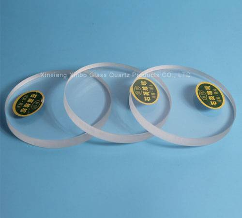Sell fused of Clear Round Quartz plates