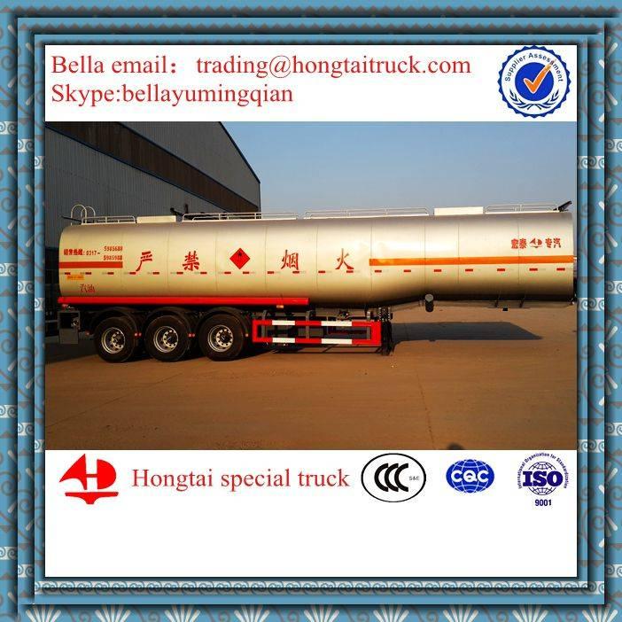 3-Axle,50m3 Oil Aluminum Tanker trailer