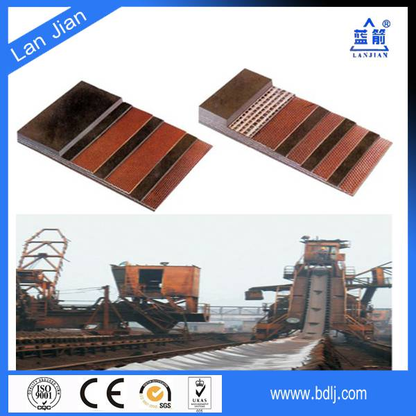 EP300 Heat Resistant Rubber Conveyor Belt Used In Clinker Cement Transmission