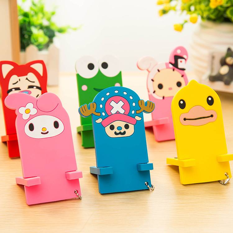 Cute cartoon mobile phone Rubber Stand Holder