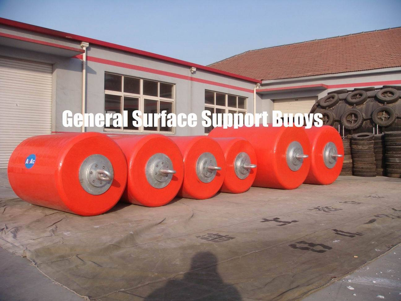 Surface Buoyancy, Cylindrical Buoy, EVA foam structure and removable Clevis Plate/Eye