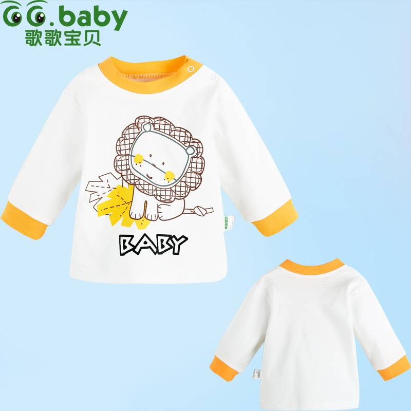 Spring Autumn Long Sleeve Cotton Baby Shirts Unisex Animal Baby Girls Boys Clothes