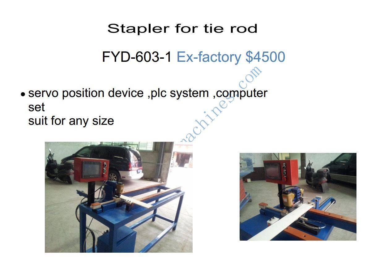 louver shutter stapler for title rod