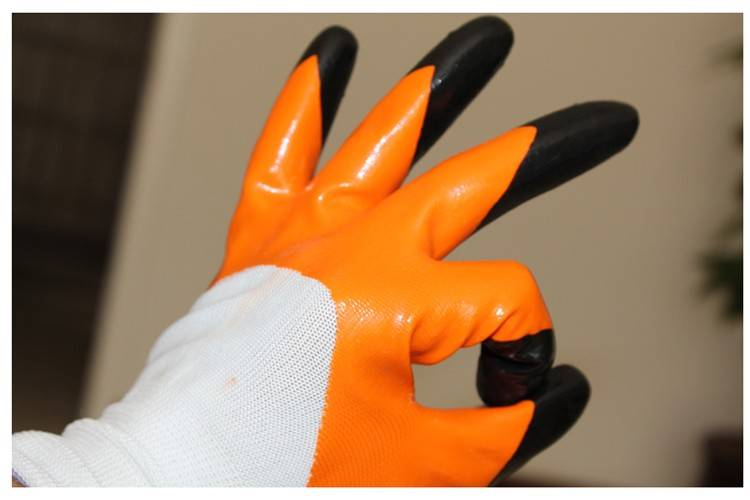 New 2014 Double Nitrile Coated Gloves