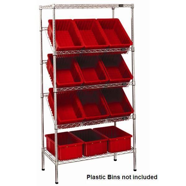 Selling chrome wire shelving slan unit