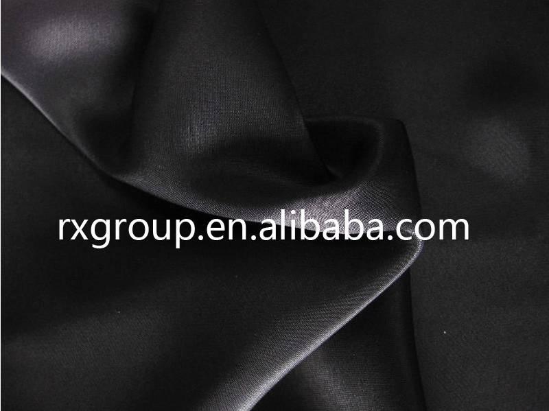 75D150D Muslim garment abaya formal black satin fabric