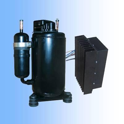 DC 12v/24v/48v/72v compressor for air conditioning of solar power system,truck cabin,mining machine