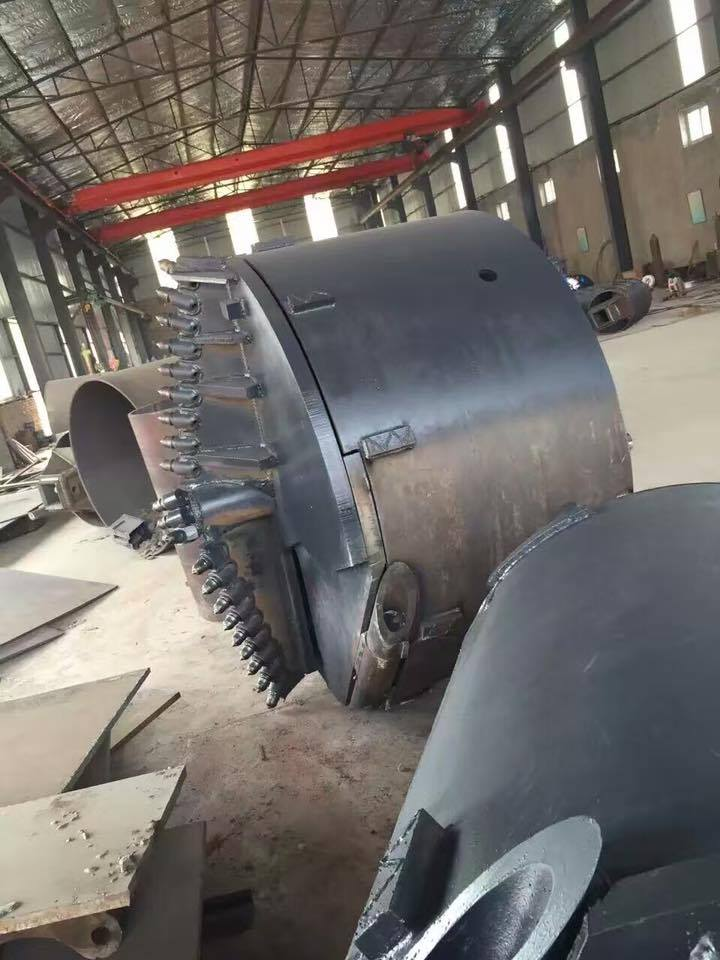 Rock drilling buckets , conical bucket