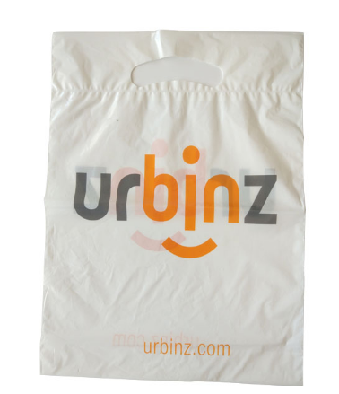 Shopping Carry bags--Supply oem ldpe shopping plastic bag with hanger hole