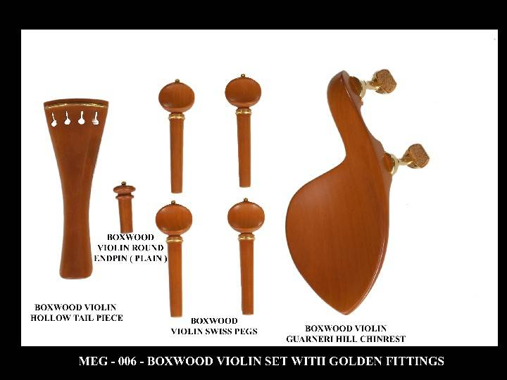 Boxwood Violin Set with Golden fittings.