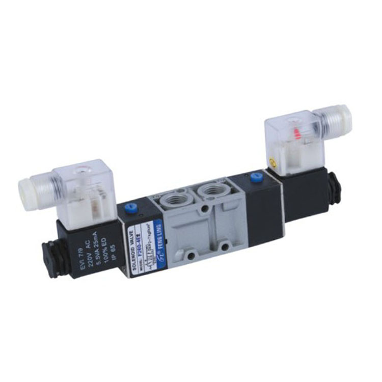 Two-position Five-way Double Coil Aluminium Alloy Pneumatic Solenoid Valve