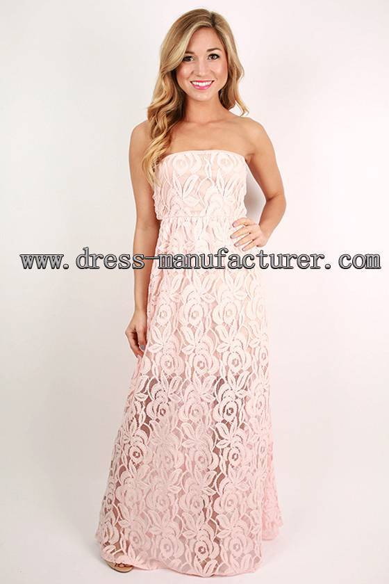 2015 new design Bohemian maxi lace Dress pink elegent woman dress
