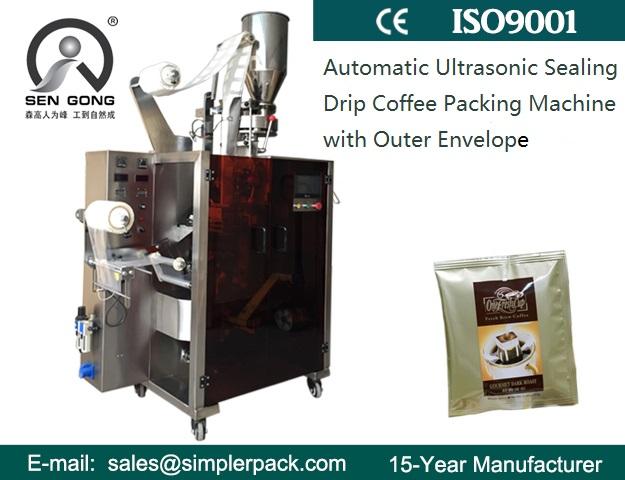 Drip Coffee Packaging Machine Ultrasonic Seal