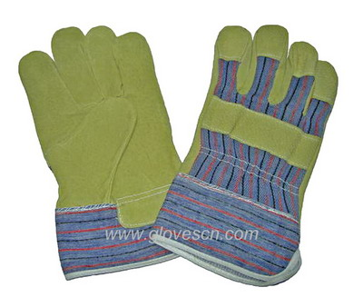Offer pig split leather driver gloves