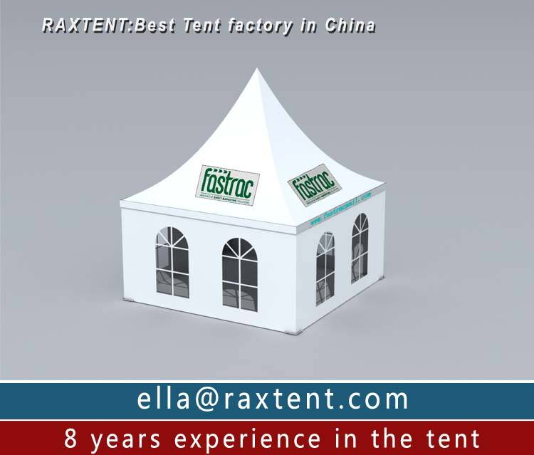 3m to 6m width tent with sidewall and priting PVC