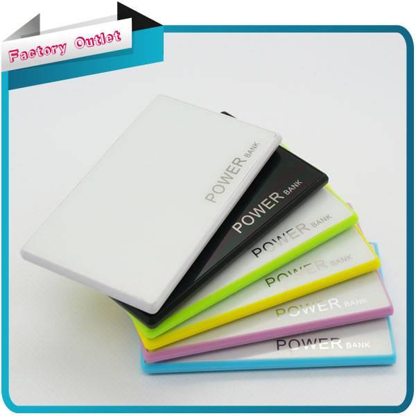 2200mAh Credit Card External Power Bank for smartphone external Battery Charger