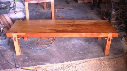 Hemlock single piece table