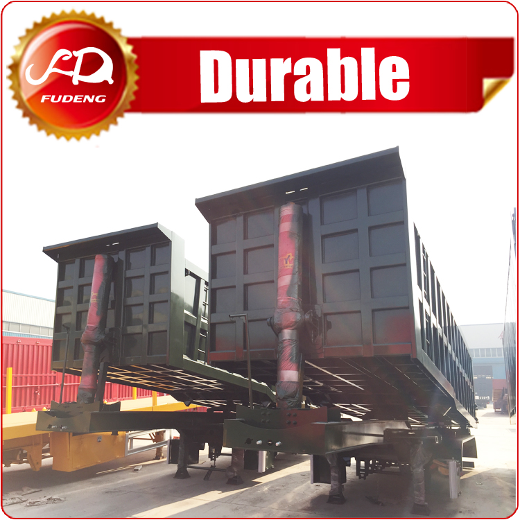 60 Ton Heavy Duty Dump Semi Trailer 2/3 Axle For Sand Stone Bulk Transport