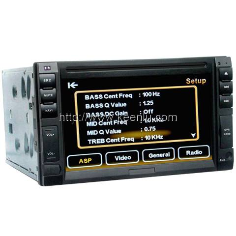 2 Din 6.2 TFT Touch Screen Car DVD Player, built in GPS & BT & TV & iPod & AM/FM/RDS