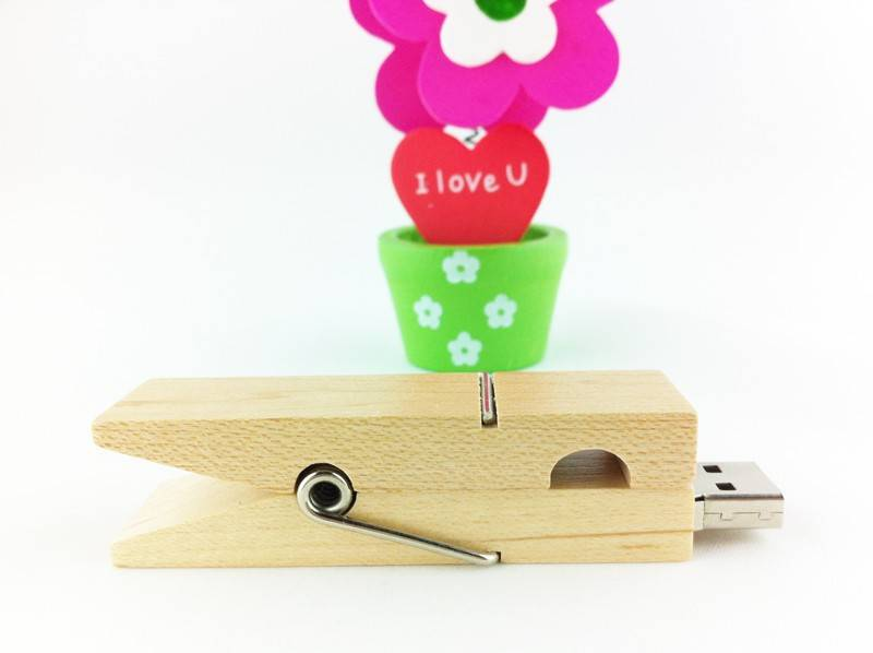 2g/4g/8g/16g/32g wooden USB Flash Drive, Business Pen Driver, versatile and practical clip USB Flash