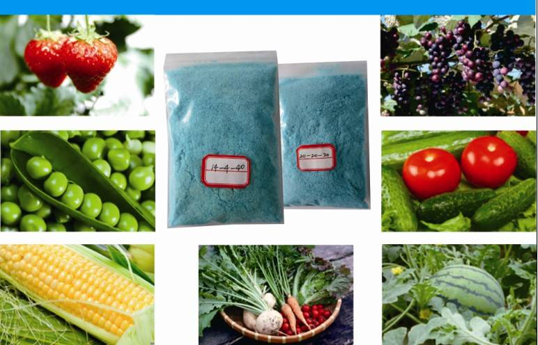 NPK water soluble fertilizer high potassium 17-9-34