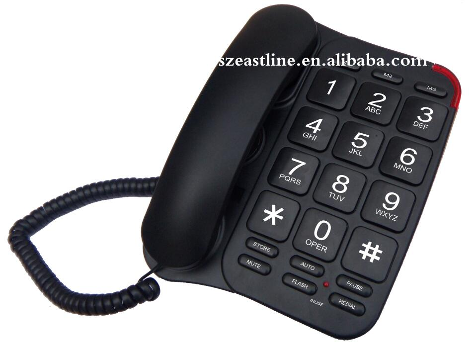 Analog Fixed Land Line Big Button Phone For Old Senior People Telephone