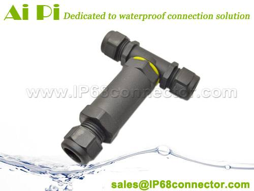 IP68 Waterproof 3-Pole T-Splitter Connector