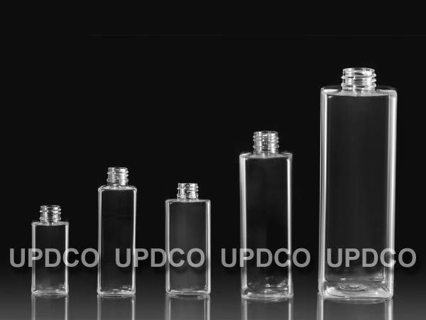 square shaped PET bottles/ cosmetic bottles/ plastic bottles