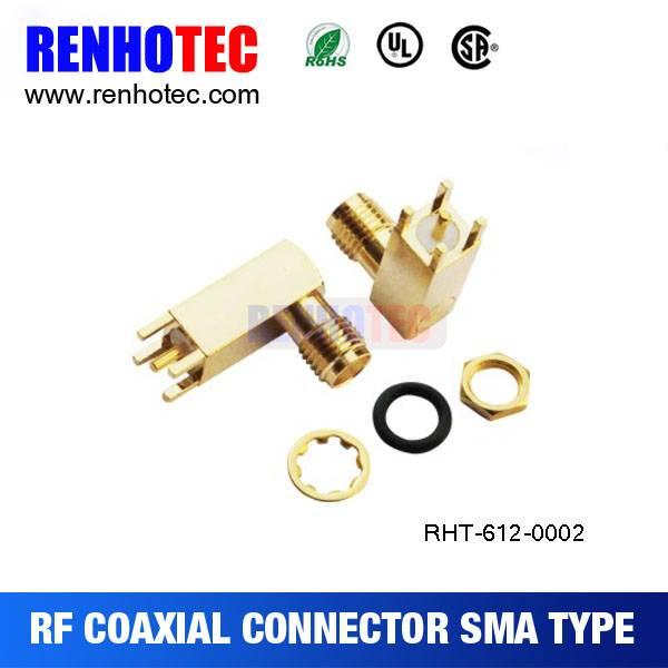 90 Degree SMA PCB Connector