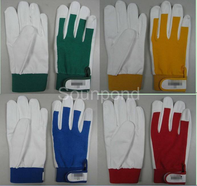 synthetic leather working glove