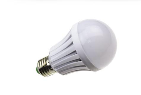 Plastic LED bulb light