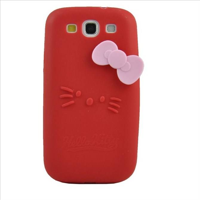 Lovely Smile Style Mobile Silicon Case for Samsung I9300