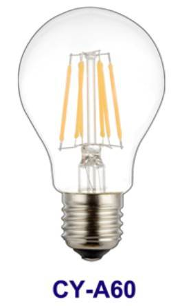 High Performance A60 6W E27 LED Filament Bulb