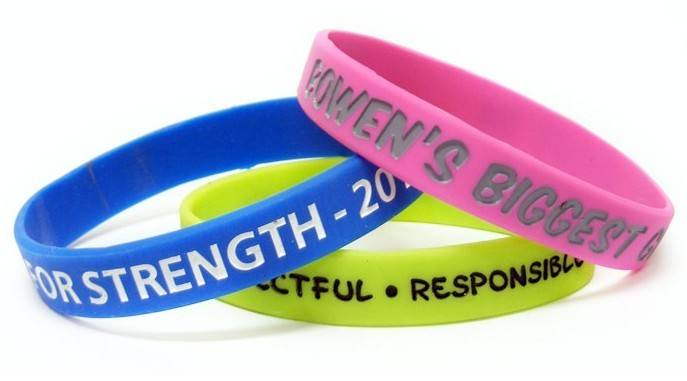 Best Factory Price Customer Design Silicone Bracelets / Wristbands