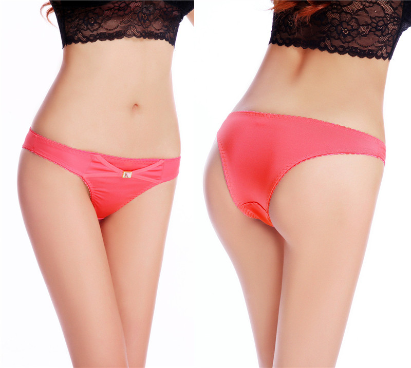 Hot sxey banded man made diamond satin panty ladies bikini panties underwear women wearing