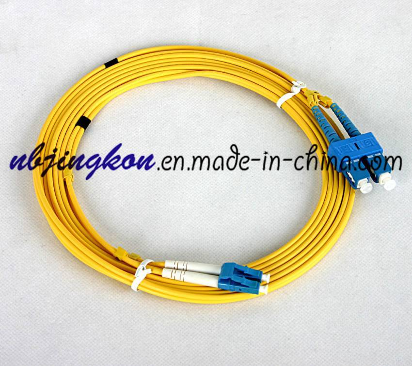 SC-LC duplex optical fiber cable