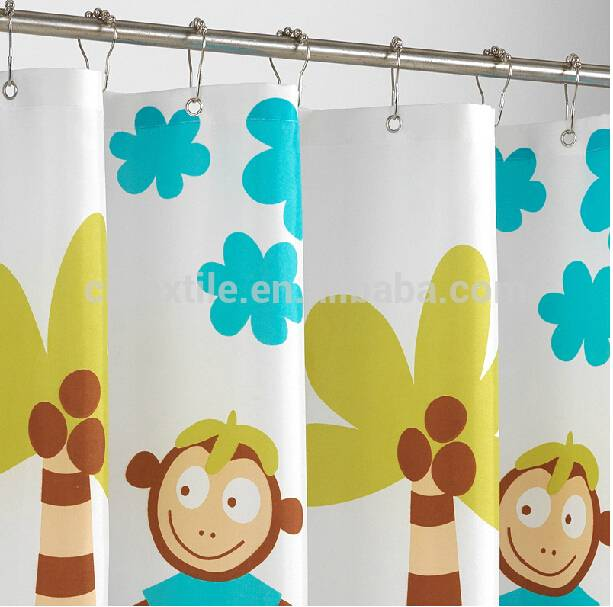 cartoon design 100 polyster fabric show curtain