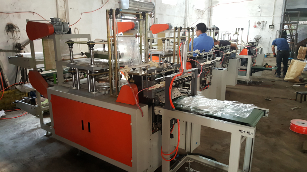 Four-Line Bottom Sealing and Cutting Bag Machine