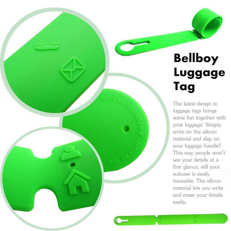 2013 Hot Sell Promotion Rewritable Bellboy Silicone Luggage Tage
