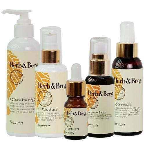 Benenet herb&bee a.c control - cleansing gel/mist/spot/serum/lotion