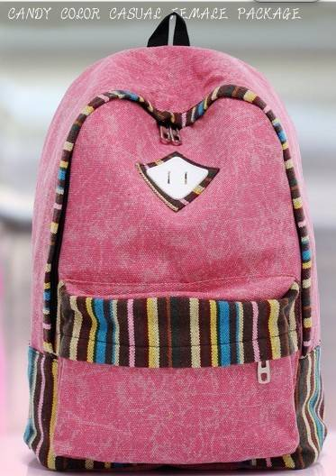whole colored canvas backpack bag