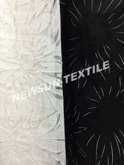 Supply New design high quality Organza Jacquard fabric for ladies skirt fashion dress and Garment