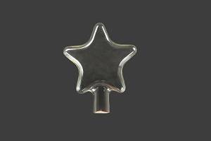 clear five-pointed star glass shell