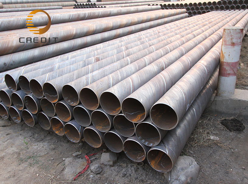 Low Carbon Welded Steel Ssaw Spiral pipePiling Pipe supplier Large Diameter Spiral Steel Pipe